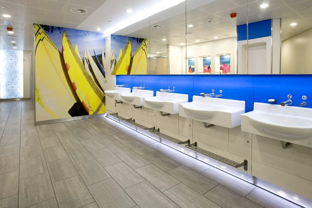 Breakthrough Gatwick airport male washroom