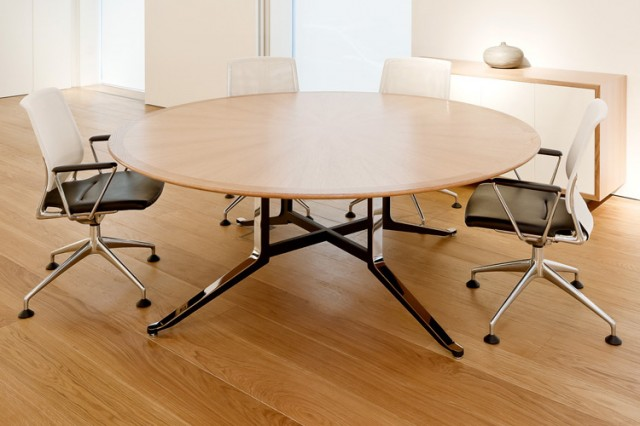 WJ White Corsair circular meeting table