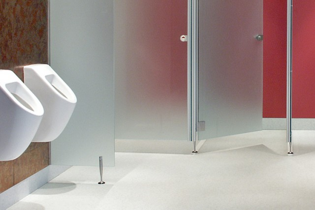 Grant Westfield washroom cubicles Entity glass
