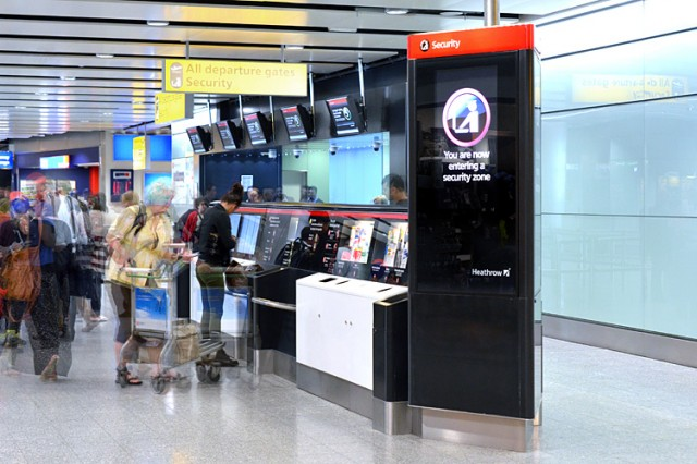 Heathrow security compliance furniture installation in Terminal 3