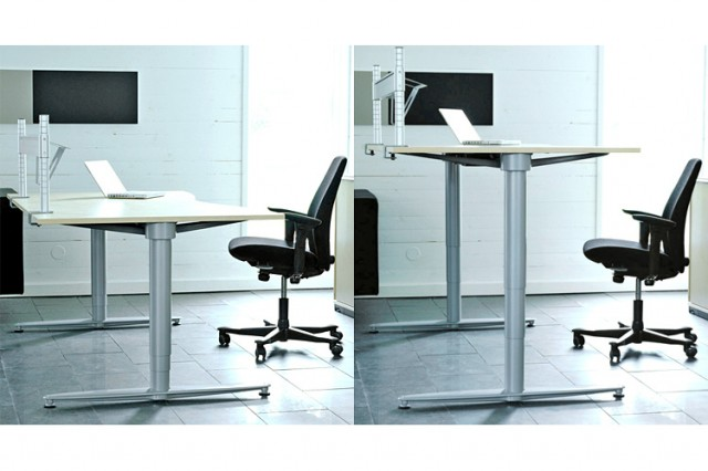 Kinnarps series[T] sit-stand ergonomic workstation