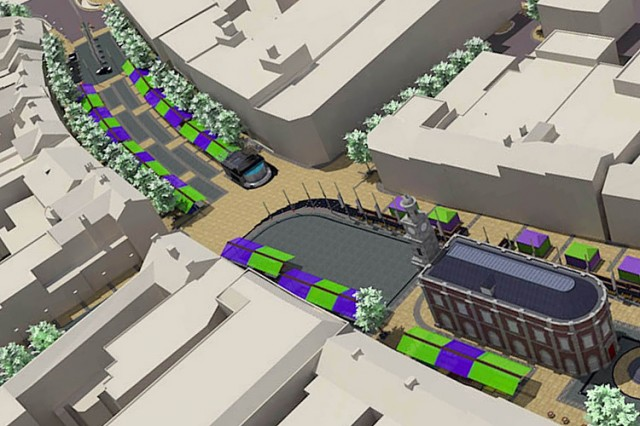 Newcastle-under-Lyme market infrastructure landscaping masterplan