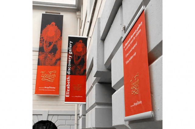 Praxis Mono banners at the National Maritime Museum