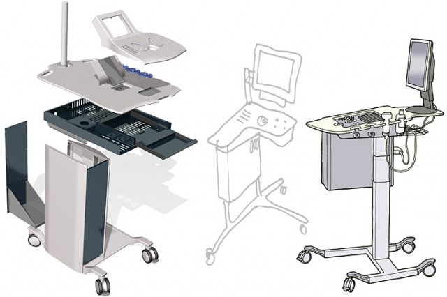 Sonoscanner Orcheo mobile ultrasound scanner drawings