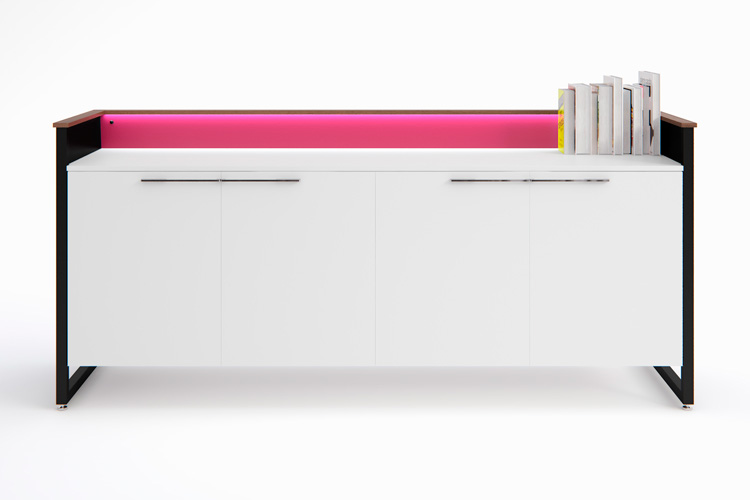 Piet credenza with LED-illuminated upstand