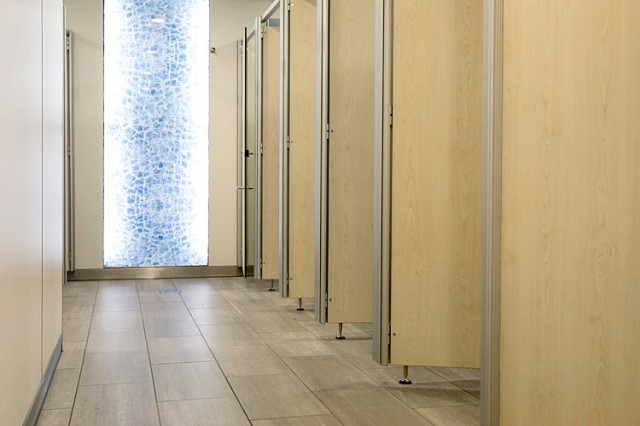 Breakthrough Gatwick airport SystemM toilet cubicles