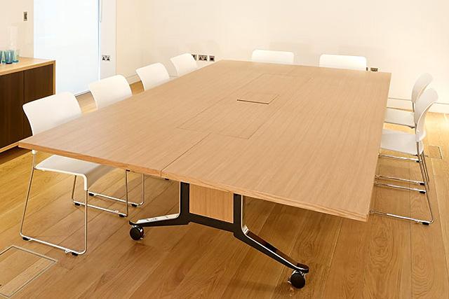 WJ White Corsair folding mobile Gullwing meeting table