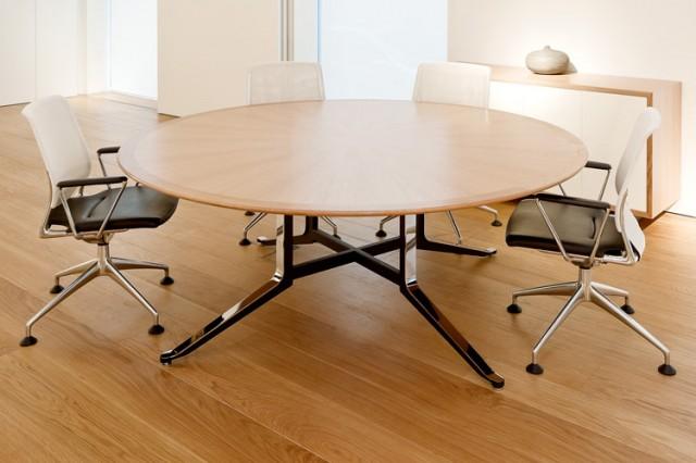 WJ White Corsair circular meeting table