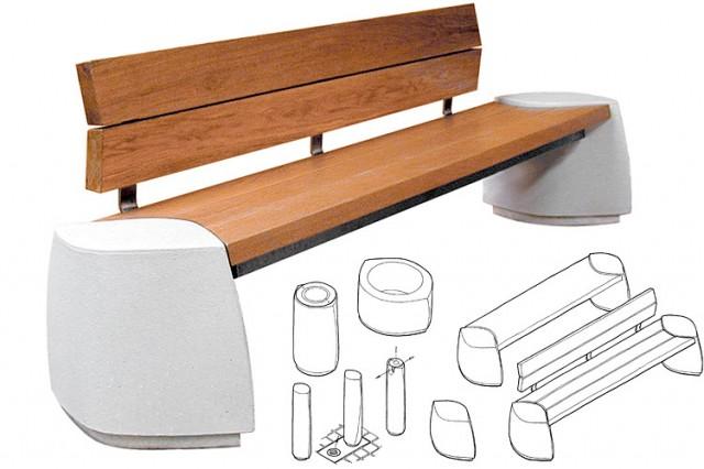 D-Form precast stone street furniture range