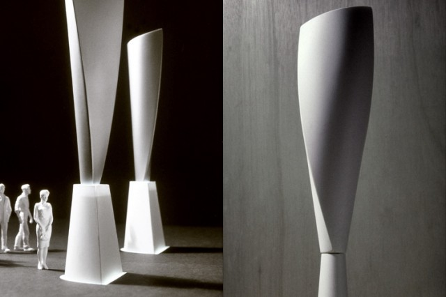 D-Form street furniture monoliths and totem signs