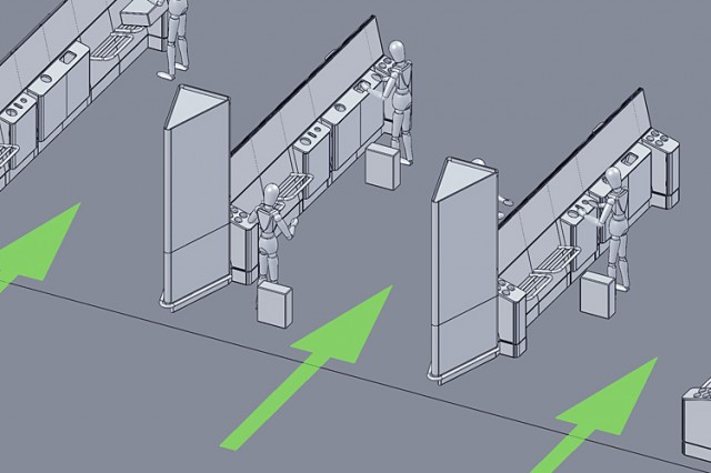 Heathrow security compliance furniture layout plan