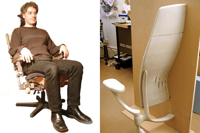 Kinnarps concept chair mechanical test rigs & sculptural models