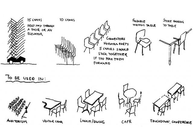 Kinnarps SquareOne chair original brief