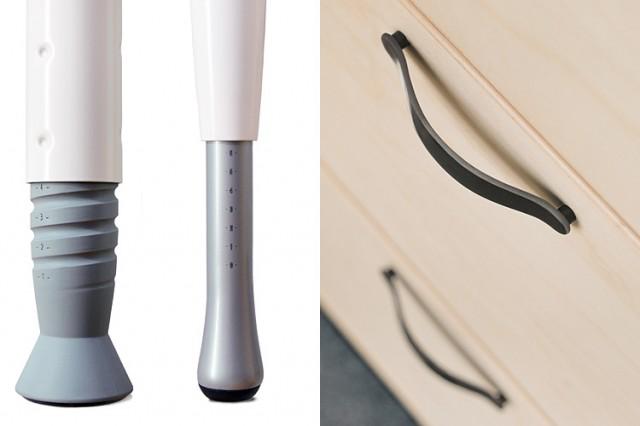 Kinnarps series[e] leg & handle details