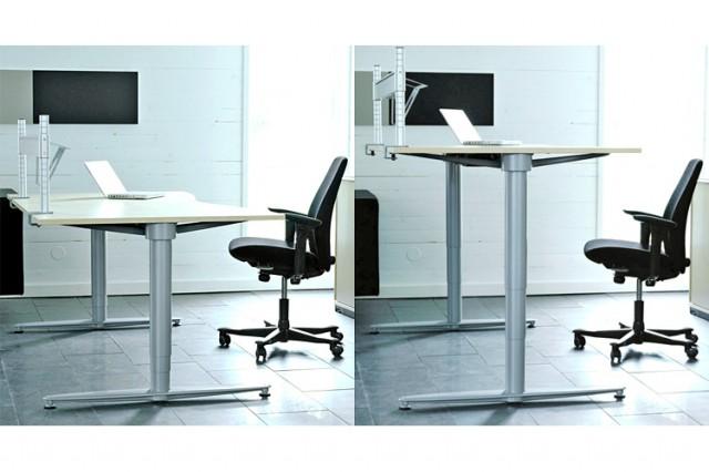 Kinnarps series[T] sit-stand ergonomic workstation