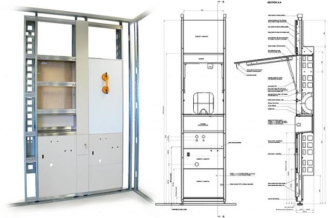 Heathrow washstand module construction details