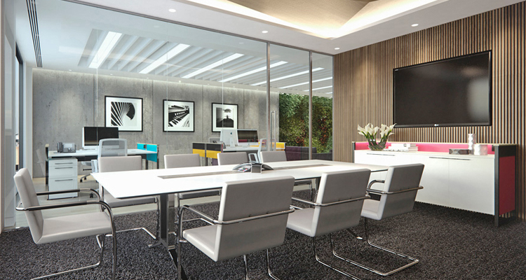 Office landscape created with the Piet and Corsair furniture ranges
