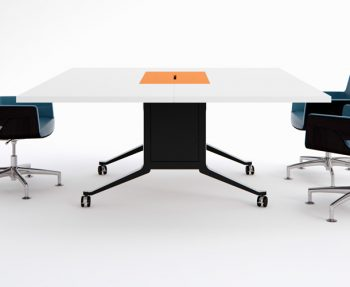 Gullwing folding conference table by WJ White
