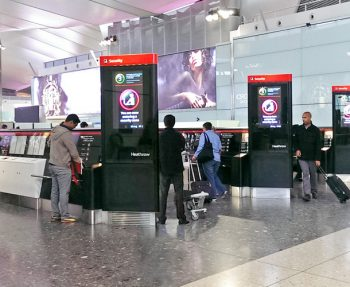 Security compliance zone at Heathrow Terminal 2