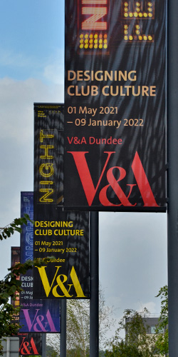 Exterior banners for the V&A